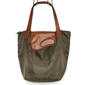 Ralph Lauren | Wooten Nylon Leather Tote Bag